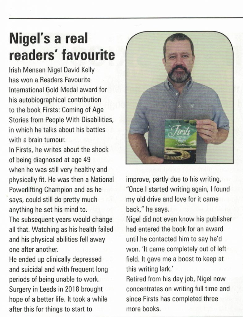 Nigel's a real readers favourite